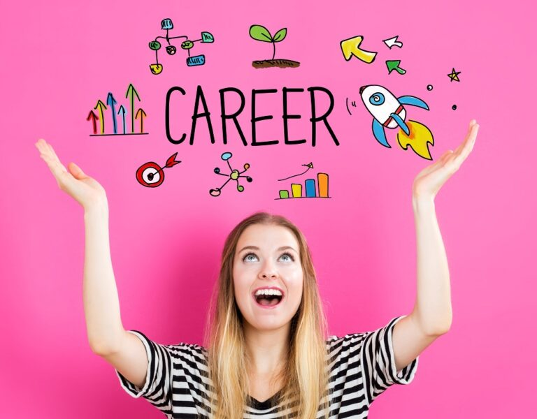 career concept with young woman